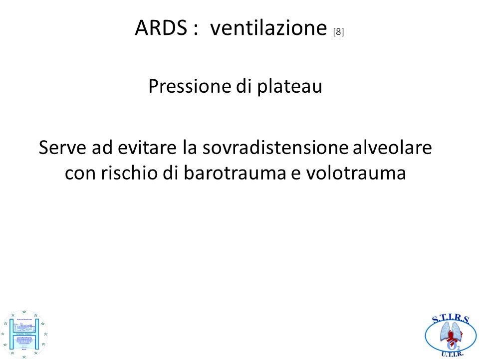 ARDS : ventilazione [8] Pressione di plateau